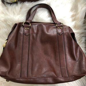 Merida vegan large satchel purse shoulder strap